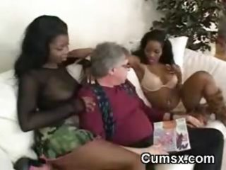 old chap making out with afro blacks
