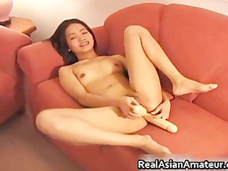Lesbian dildoing and eating part3