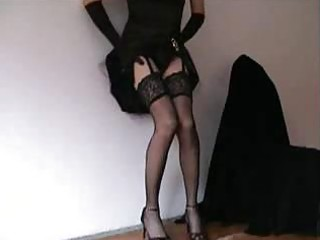 tempting crossdresser in hot underware is at your