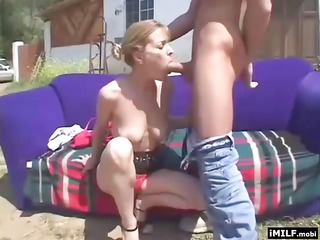 blond mother i screwed hard outdoors