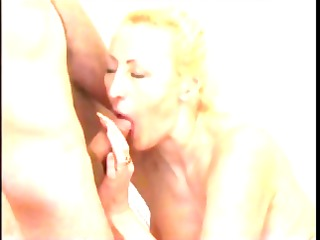 breasty blond aged can to receive filmed eating