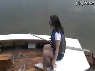 cute hottie rides on a boat and screwed