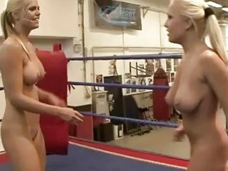 wild breasty blondes fighting