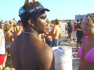 mardi gras at the beach brings out the large