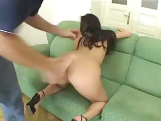 breasty brunette hair claudia acquires schlongs