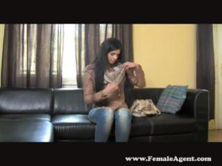 newbie cynthia visits the casting bed and goes