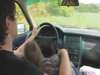 92yo estonian beauty drilled on the car
