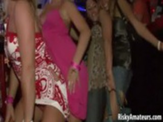 wild dilettante harlots dancing messy at the