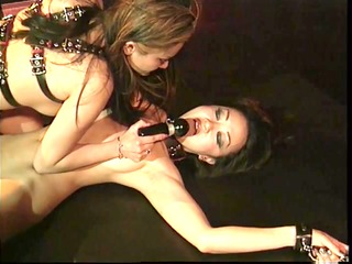 asian bdsm floozy nipples clamped and doxy bound