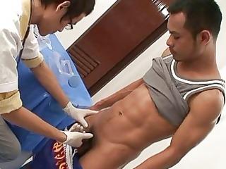 homosexual doctor is seducing his impressive