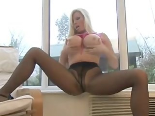 british masturbator in black pantyhose