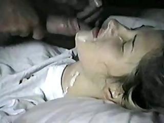 non-professional angels acquire facial cumshots