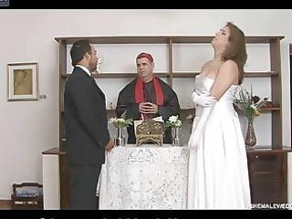 red sexy ladyman bride