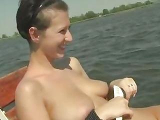 breasty czech angel nikol screwed in a boat