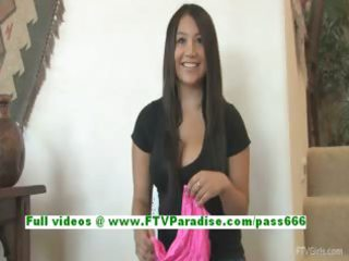 marie superb breasty brunette hair getting bare
