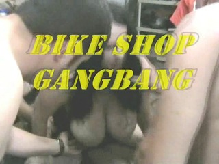 rosie piage bike shop group-sex bukkake