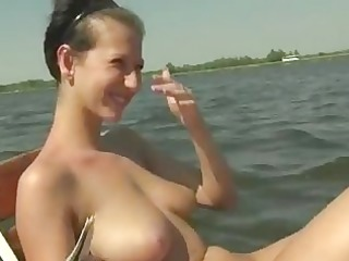 breasty dilettante gal gangbanged on her boat