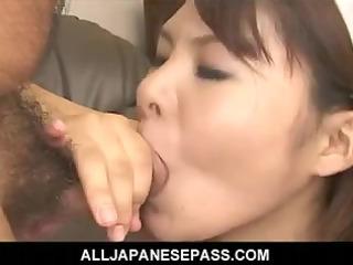 naughty japanese maid takes on a hard wang to