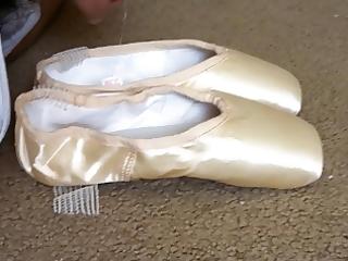 cum in ballet pointe shoe
