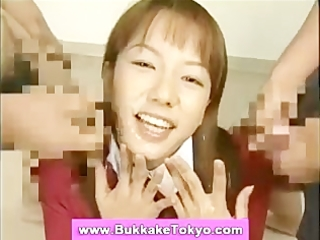 bukkake oriental cum loving facial wench