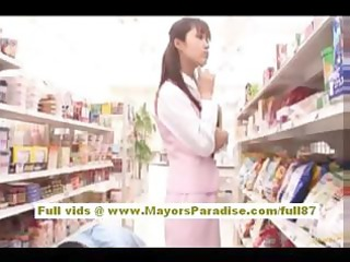mihiroasian model enjoys getting supermarket sex