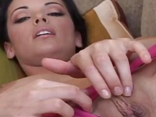 fleshly black haired honey in pink undies showing
