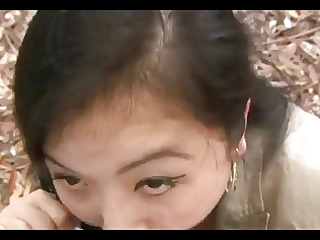 04yr old maki nonaka outside and creamed