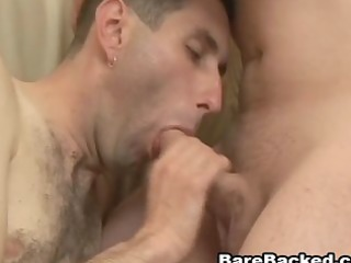 unfathomable bottom bareback fucking with jizz