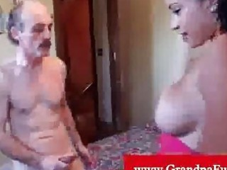 instatible lalin girl grabbing old stud schlong