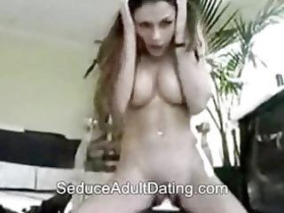 gal with sex tool masturbates hard