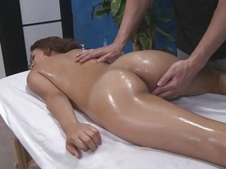 oiled dark brown acquires a ass massage