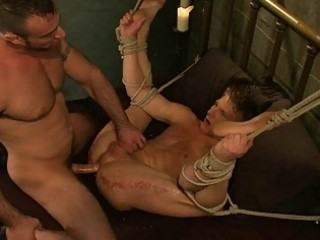 fastened homo fellow acquires drilled