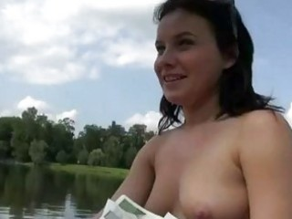 dilettante gal flashes and gangbanged on boat