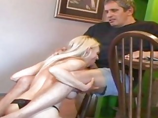 sexy old cougar with old lad sucks his penis and