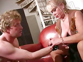 greater quantity aged female-dominator in nylons
