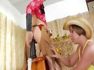 brutal analhole three-some with cowboy