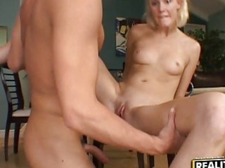hardcore sex on the floor with hitchhiker blond