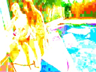 great group rectal hole enjoyment by the pool
