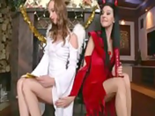 hotty and devil have lesbo sex