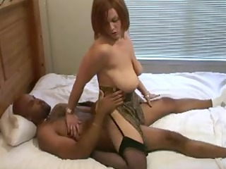 fertile white wench in darksome stockings