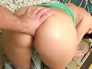 breasty gf anal toyed and pounded on tape