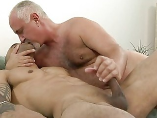 hot tattooed homo giving cook jerking to his