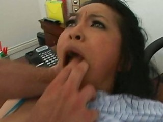 hawt breasty dark brown boss bitch anal fucking