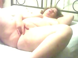 big beautiful woman experimenting with herself