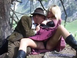 mountain fuck fest golden-haired sex