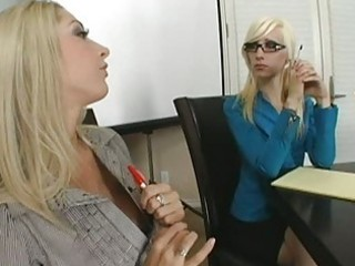 breathtaking breasty blond and redhead talking