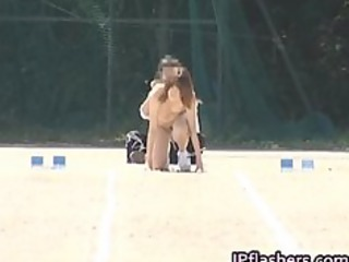 oriental cuties run a naked track and field part9