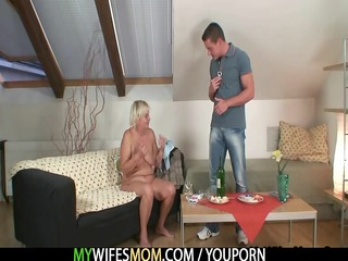 sexually excited granny seduces her son in law