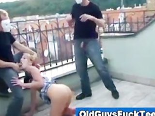 old boyz blow job by hawt younger sweetheart