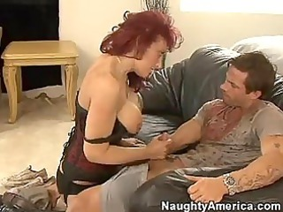 red headed momma nikki sinn stuffs her juicy face